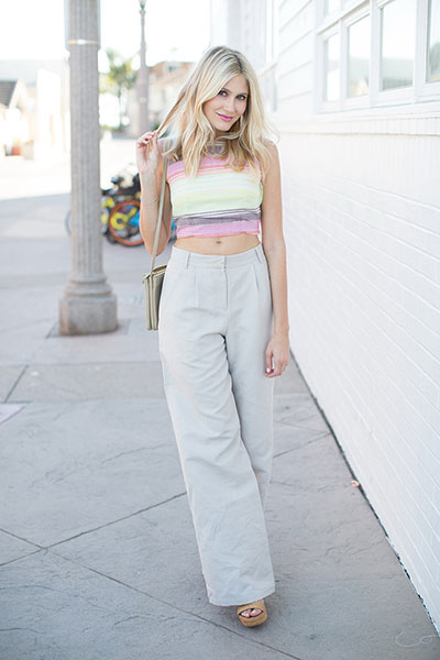 Tight Tops and Wide Leg Pants