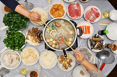 hot pot on clotes