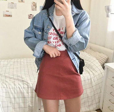 Jacket Match With A Skirt
