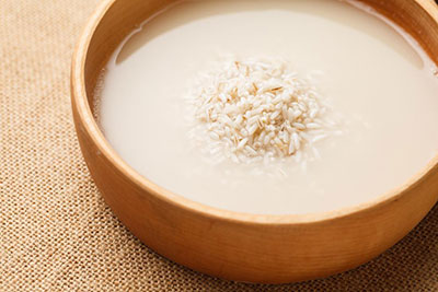Use Rice Water To Remove Mildew