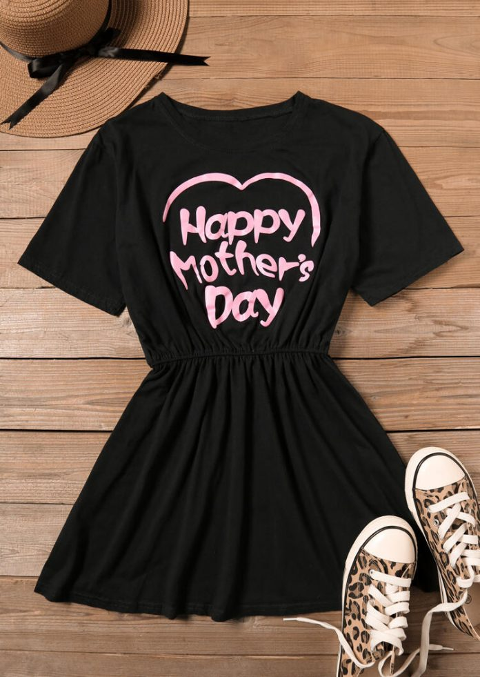 Happy Mother's Day Heart Casual Dress