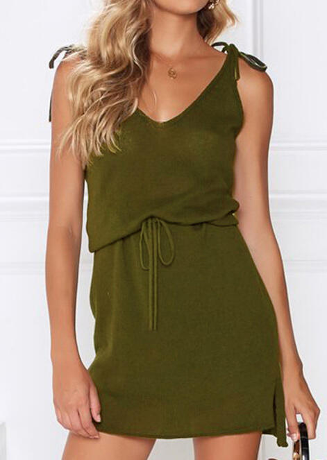 V-Neck Casual Dress