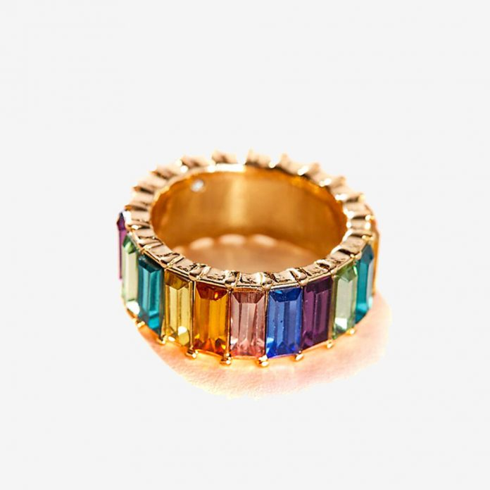 Alloy Rhinestone Women Ring