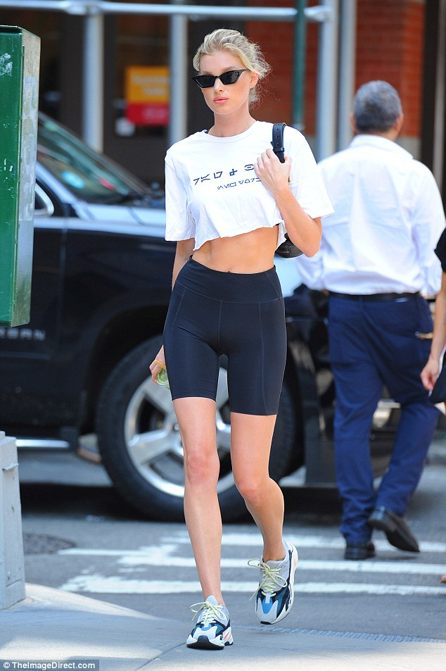 Crop Top With Sport Shorts