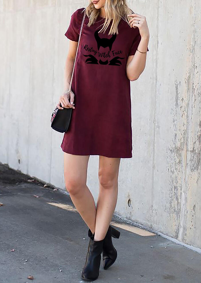 Resting Witch Face Mini Dress
